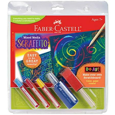 faber-castell do art sgraffito - diy scratch art kit for kids   walmart canada