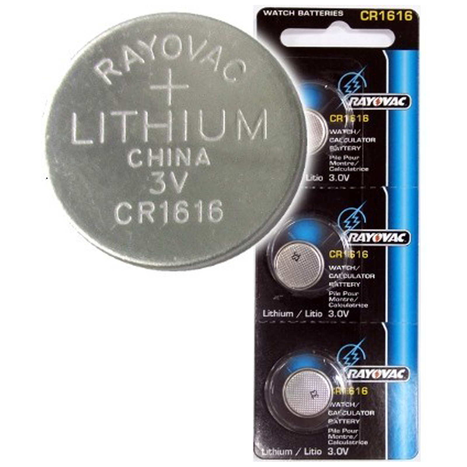 3pk Rayovac CR1616 3V Lithium Coin Cell Battery Replaces RV1616 FAST USA SHIP