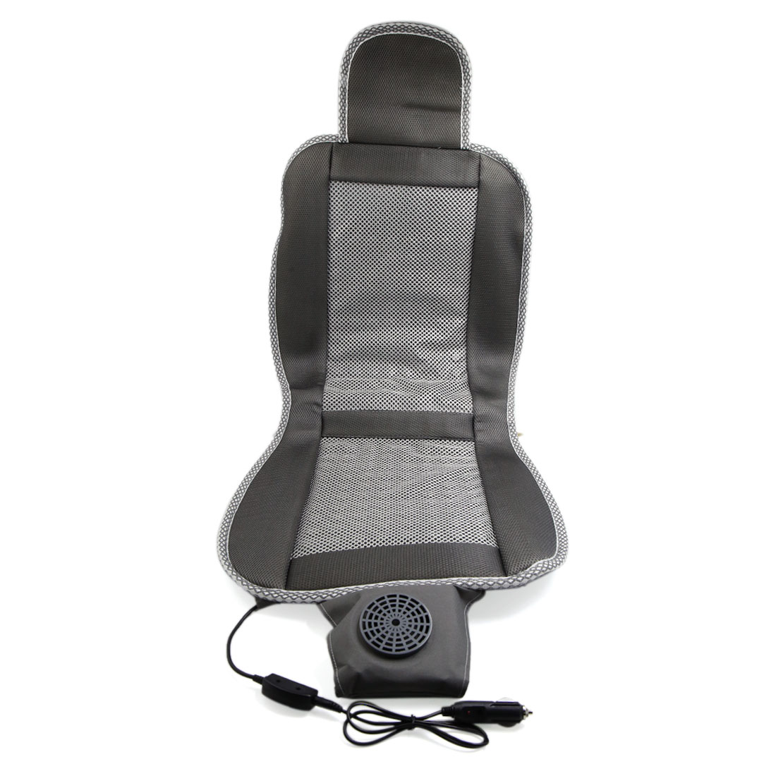 Adjustable Temperature Cooling Car Seat Cushion Cover Summer Cooler Pad Gray