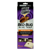 Hot Shot Bed Bug Glue Trap 4 Count, Detection, Pesticide-Free