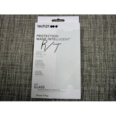 new style 58184 512d5 Tech21 EVO Glass screen protector for the iPhone 7 Plus