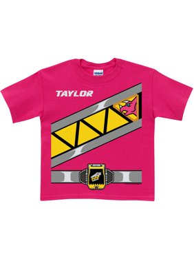 Personalized Power Rangers Dino Charge Girls' Pink Ranger T-Shirt