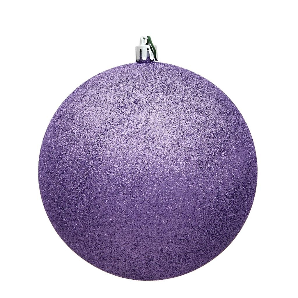 "2.75"" Lavender Glitter Ball Drilled 12/B"