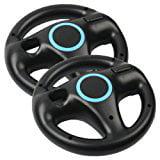 Eastvita 2 X Black Steering Mario Kart Racing Wheel For Nintendo Wii Remote Game