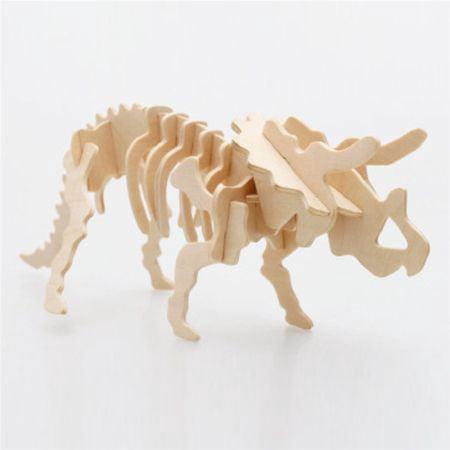 Triceratops Wooden Dinosaur Skeleton Model Kit