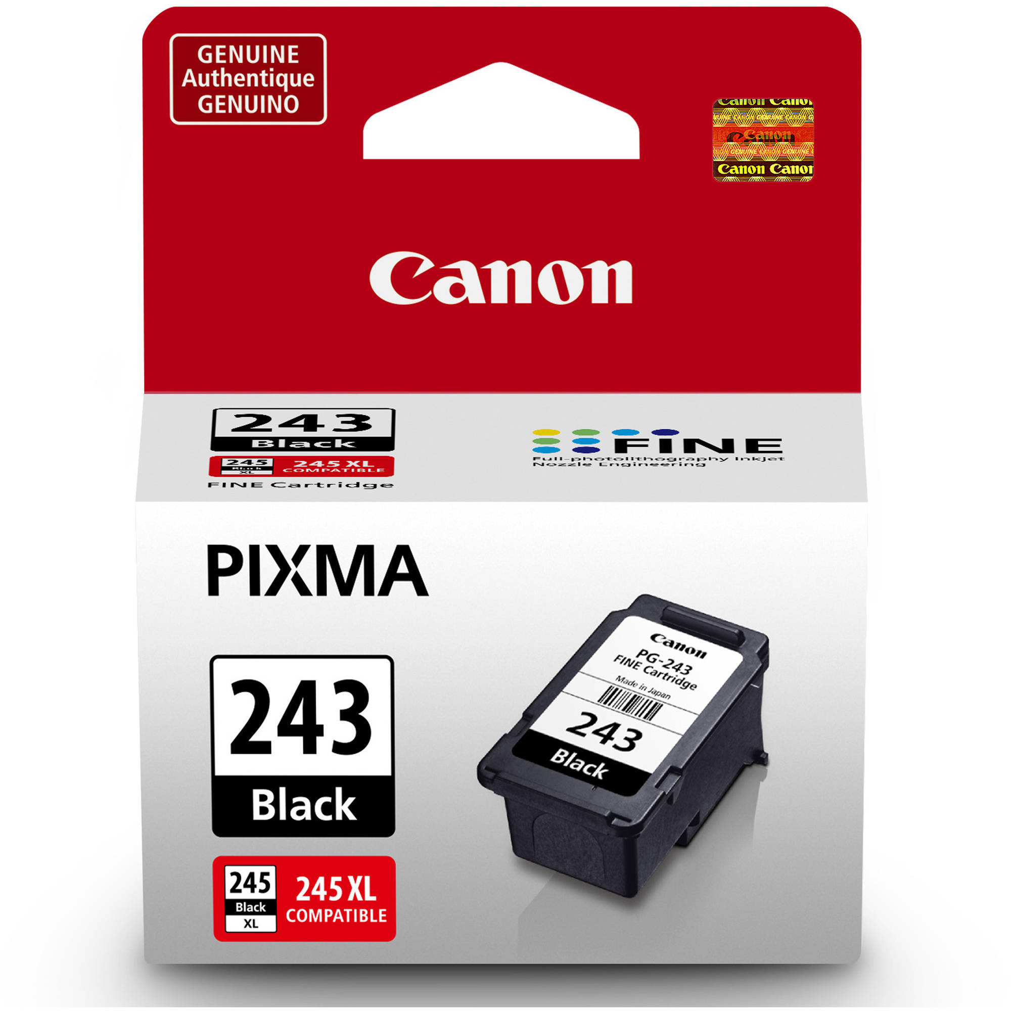 MG2420 MG2520 MG2555 Smart Print Supplies Compatible PG-245 PG245 Black Ink Cartridge Replacement for Canon Pixma iP2820 MX490 MX492 Printers 300 Pages - 6 Pack