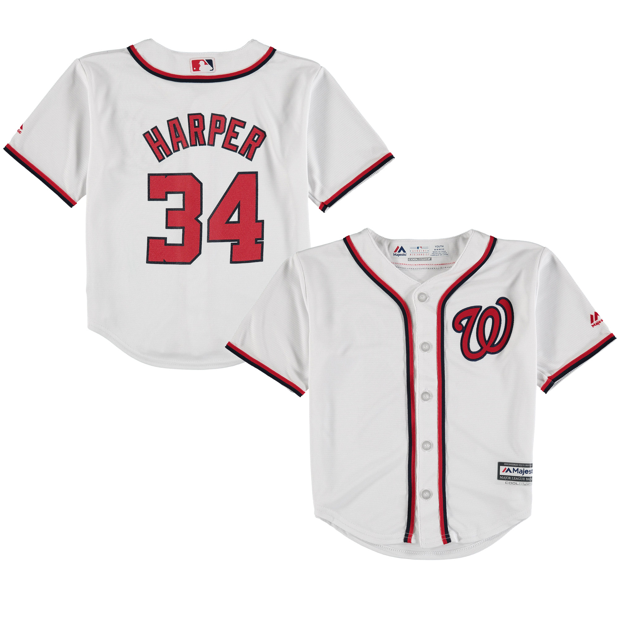 Bryce Harper Washington Nationals Majestic Preschool & Toddler Home Official Cool Base Player Jersey - White
