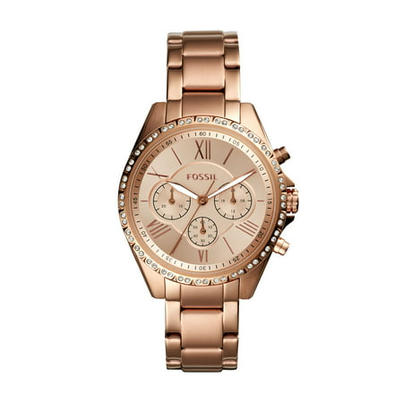 Fossil Women's Modern Courier Chronograph Rose Gold Tone Stainless Steel Watch (Style: BQ3377)