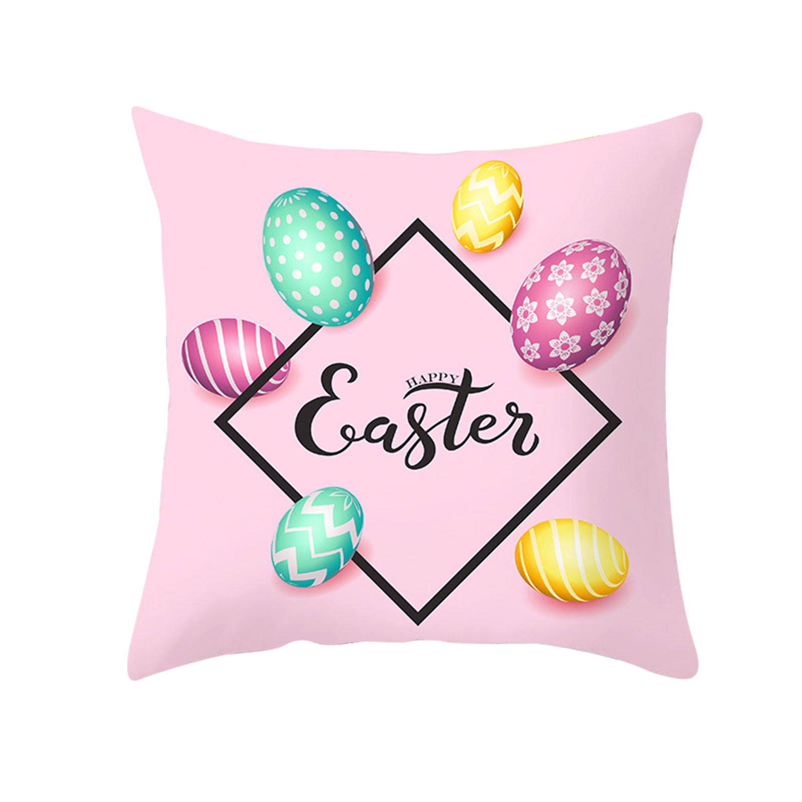 """18/"""" Spring Easter Pillow Covers Cases Decorative Cushion Sofa Couch Rabbit Bunny"""