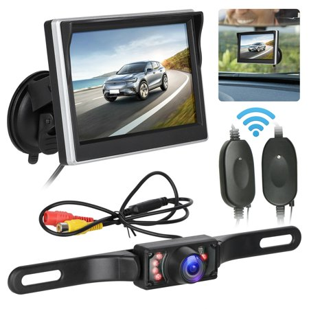 Back Up Cameras >> Eeekit Wireless Backup Camera System 170 5 Tft Lcd Rear View Monitor Ip67 Waterproof Night Vision Reverse Camera Guide Lines For Car Mpv Suv Rv