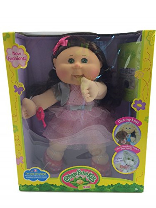 Cabbage Patch Kids Adoptimal Doll 14 Caucasian Brown Sparkle Dress by Wicked Cool Toys