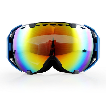 Ediors Windproof Snowmobile Ski Snow Goggles Eyewear  - Anti Fog Double Lens All Mountain / UV Protection (105-10, Revo (All Mountain Junior Skis)