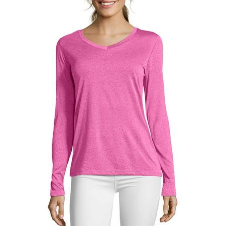 Fleece Long Sleeve Sport Shirt - Sport Women's CoolDri Performance Long-Sleeve V-Neck Tee