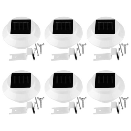 Yosoo Solar Light, 6pcs Solar Powered Fence Light 3LED Automatic Dusk to Dawn Automatic On Off Waterproof Solar Lamp for Backyard Driveway Patio Gardens Lawn