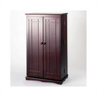 """Leslie Dame 40"""" CD DVD Media Storage Cabinet in Cherry"""