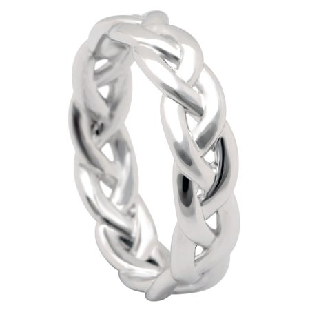 Belinda Infinity Twisted Sterling Silver Anniversary Wedding Band Ring