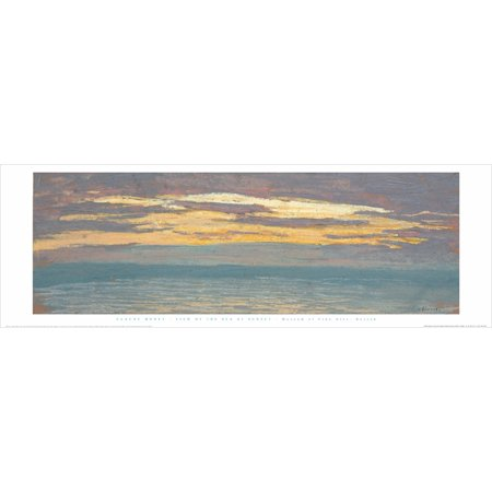 View Of The Sea At Sunset Claude Monet 12x36 Art Print Poster Famous Painting Landscape Ocean Sunset..., By Museum of Fine Arts Boston MFA Ship from -