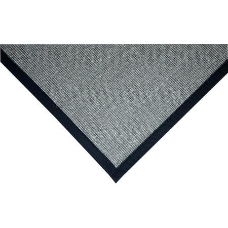 Dean Island Gray/Black Natural Sisal Hall/Entrance/Landing Slip Resistant Carpet Runner Rug 29