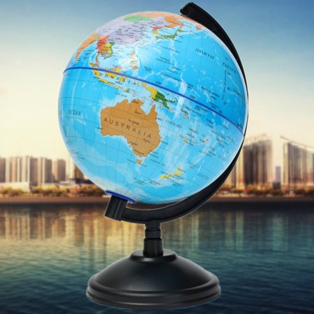 14cm World Globe Map With Stand Geography Educational Toy Student Desktop Decor Home Office Kid earthmap Christmas Birthday Presents