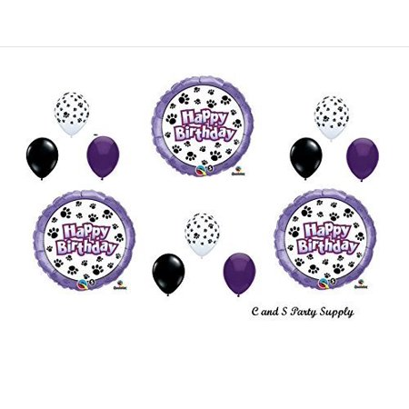 DOG PAW PRINT Patrol Birthday Party Mylar Balloon Decorations Supplies by Qualatex for $<!---->