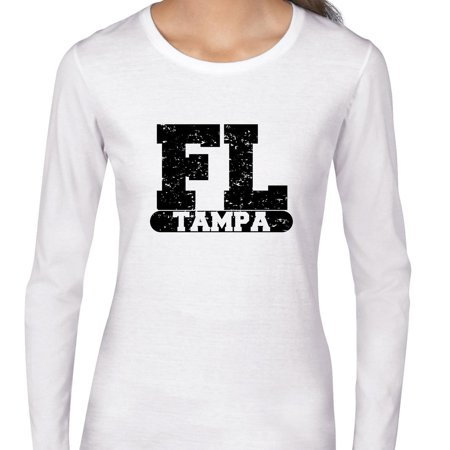Party City Tampa Fl (Tampa, Florida FL Classic City State Sign Women's Long Sleeve)