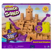 Kinetic Sand - Beach Sand Kingdom Playset with 3lbs of Beach Sand Ages: 3 Years and Up