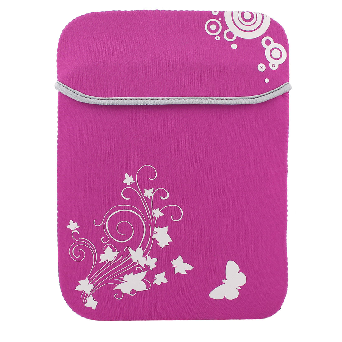 """12"""" Shockproof Notebook Laptop Sleeve Bag for Tablet PC Fuchsia"""