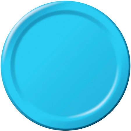 Creative Expressions 7'' Luncheon Plates, Pastel Blue, (Pack of 24) (Pastel Party Plates)