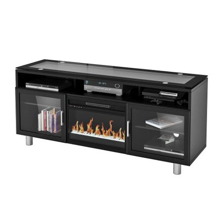Madie Flat Panel TV Stand With 26″ Logset Fireplace Insert