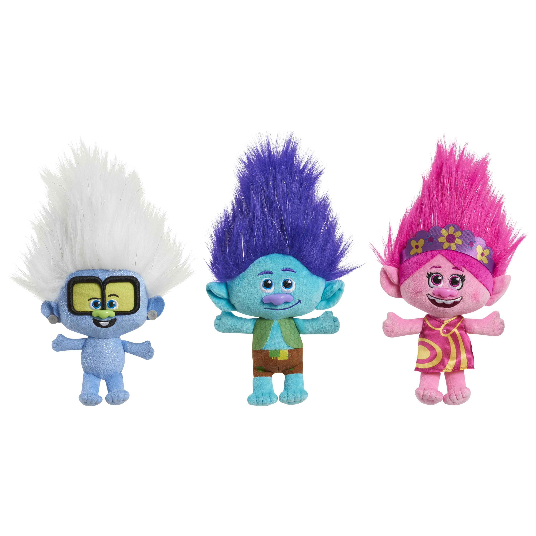 Trolls World Tour Small Plush 3 Pack Pop Medley Poppy Branch And Tiny Diamond Ages 3 Walmart Com Walmart Com
