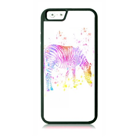 Watercolor Zebra Black Rubber Case for the Apple iPhone 6 Plus / iPhone 6s Plus - Apple iPhone 6 Plus Accessories -iPhone 6s Plus