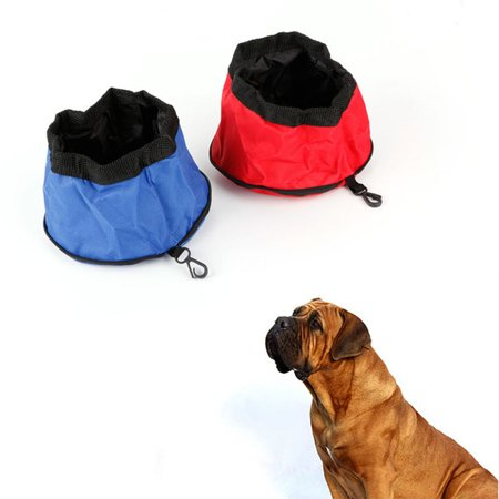 Oxford Cloth Waterproof Portable Zipper Foldable Travel Dog Food Water Bowl - image 7 of 8