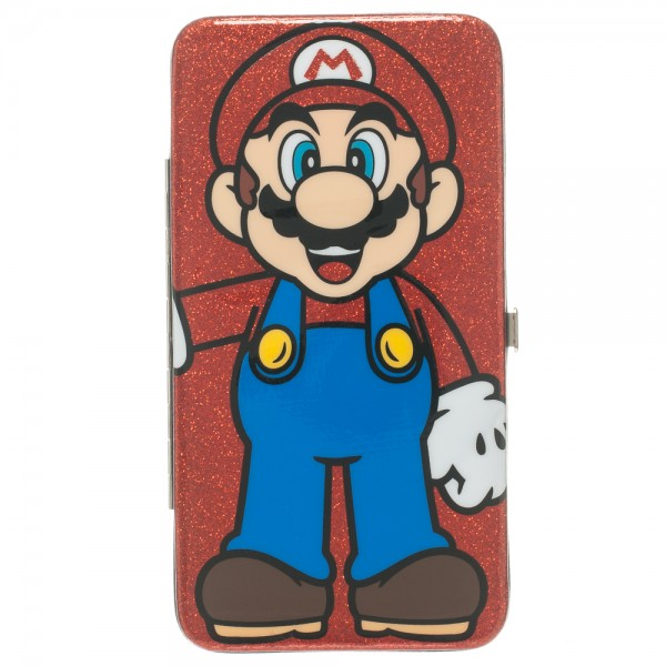 Hinge Wallet - Nintendo - Super Mario Red Glitter Anime Licensed gw08ywsmb
