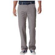 Life Khaki Mens Straight Fit Flat Front Pant (Sterling Grey Button Closure, 42X30)