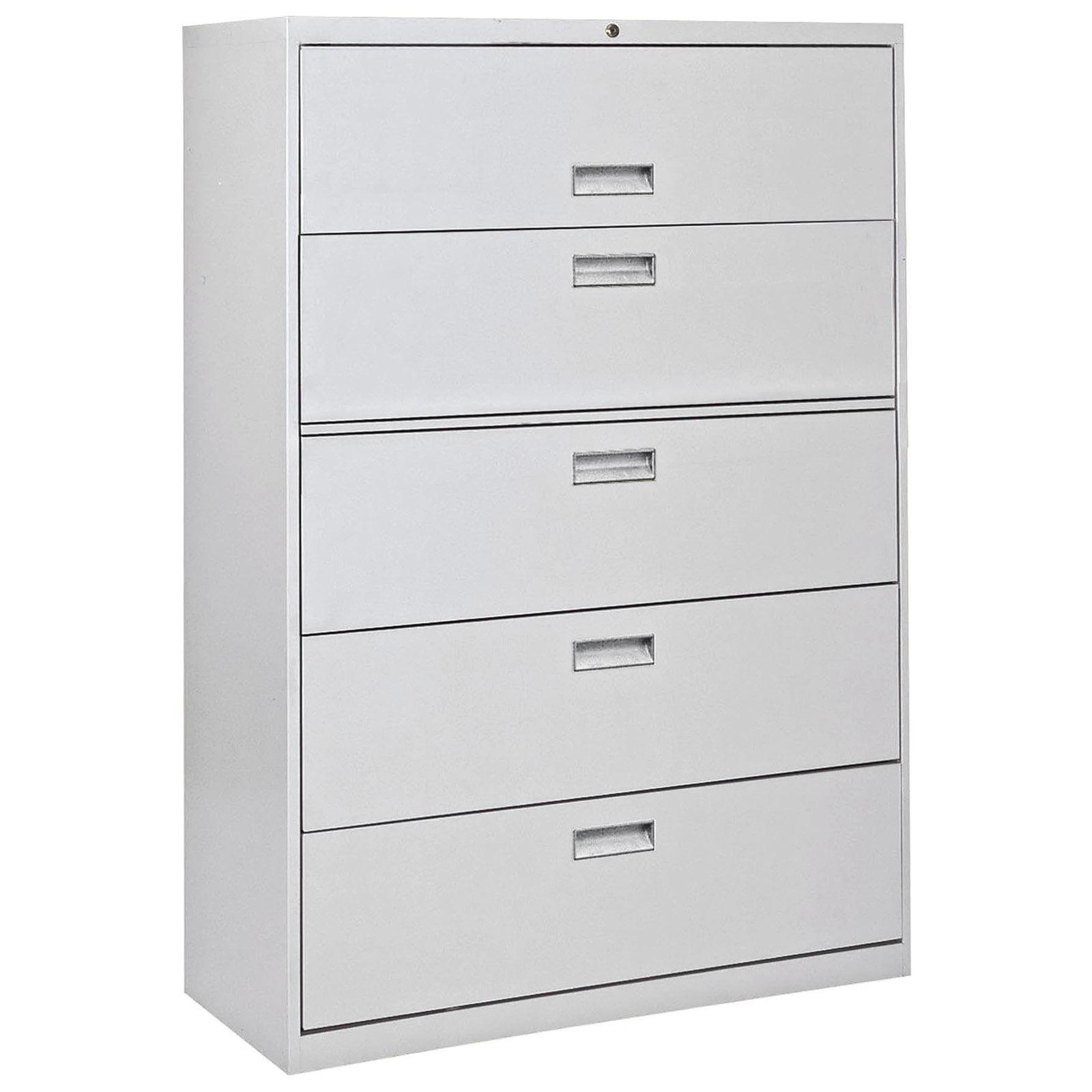 Sandusky Lee 800 Series 42 5 Drawer Full Pull Lateral File Dove Gray