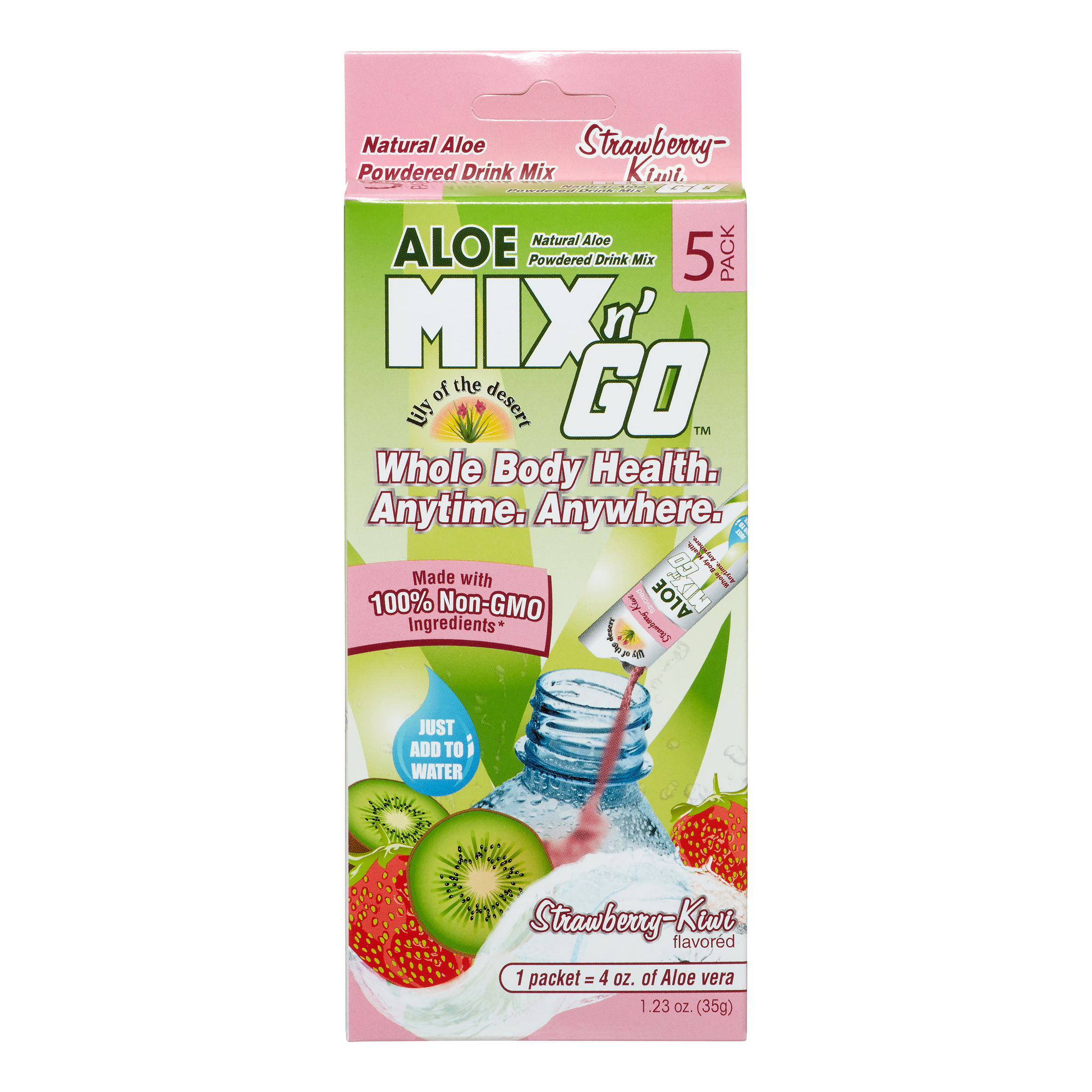 Aloe Mix N Go Strawberry Kiwi, 5 Ct, 5 Ct