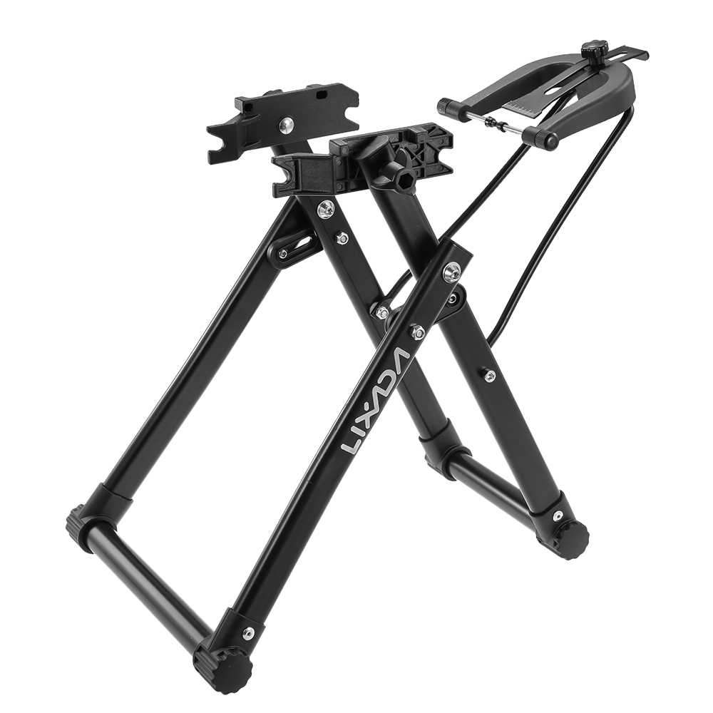 "Lixada Bike Wheel Truing Stand Bicycle Wheel Maintenance Home Mechanic Truing Stand for 24"" 26"" 28"" Mountain Bike Road Bike Folding Bicycles"