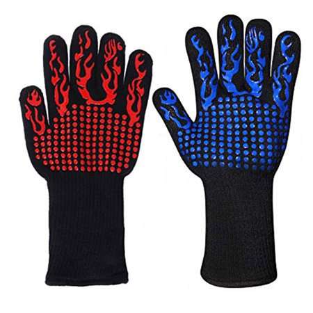 BBQ Gloves Extreme Heat Resistant, Tvird Oven Gloves BBQ Grilling Gloves - image 3 de 8