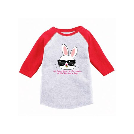 Awkward Styles Hip Hop Easter Bunny Youth Raglan Easter T Shirt Easter Jersey Shirt for Kids Easter Outfit for Girls Easter Bunny Boys Shirt Easter Holiday Party Shirts Cool Easter - Youth Girls Kinetic Jersey