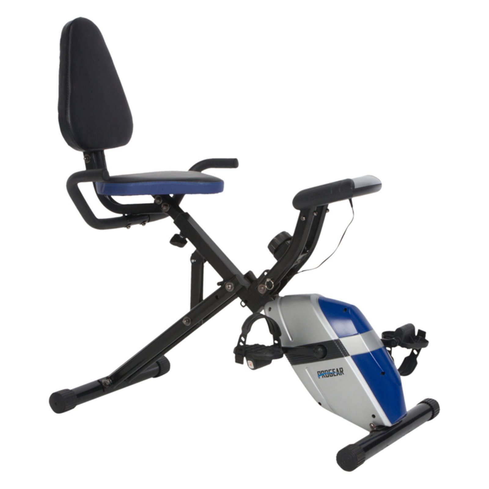ProGear 190 Compact Recumbent Bike with Heart Pulse Sensors