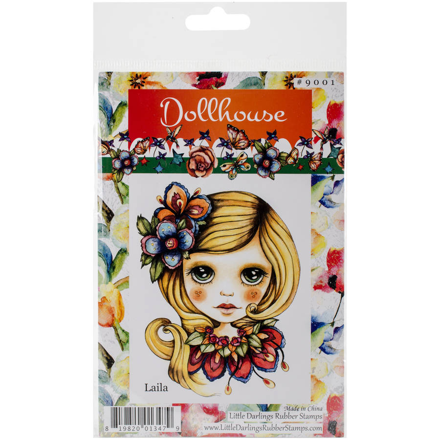 "Dollhouse Cling Stamp 4""X7""-Laila, Pk 1, Little Darlings"