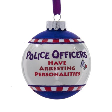 pack of 3 glass police officers have arrestingalities christmas ball ornaments
