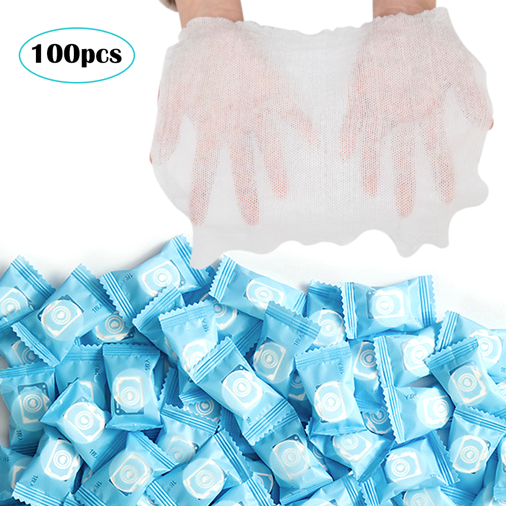 100pcs Outdoor Travel Disposable Portable Compressed Cotton Towel Face Cloth NEW