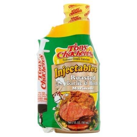 Tony Chacheres Injectables Roasted Garlic   Herb Marinade  17 0 Fl Oz