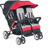 Quad 4-Seat Sport Stroller in Red by Foundations
