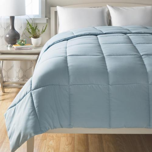 Cheer Collection All Season Down Alternative Hypoallergenic Comforter Full/Queen - Grey