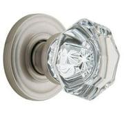 Baldwin 5080.150.PRIV Filmore Privacy Crystal and Satin Nickel Knob