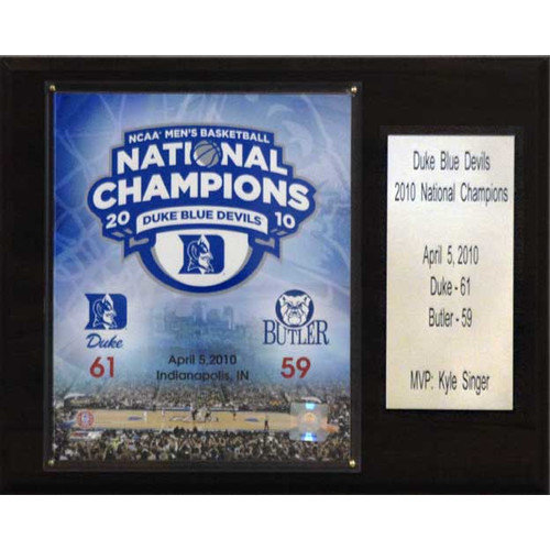 C & I Collectibles NCAA Basketball Duke Blue Devils Champions Plaque