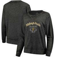 Pittsburgh Pirates Soft as a Grape Women's Home Run Swing Sweatshirt - Black