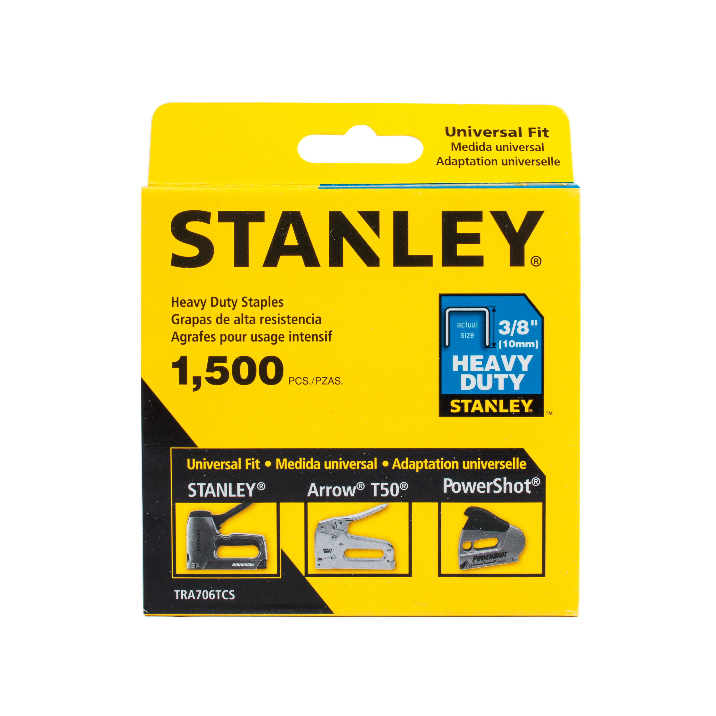 "STANLEY TRA706TCS 3/8"" Heavy-Duty Staples, 1500 Count"